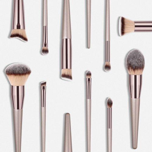 Professional Private Label Wood Makeup Brushes Set