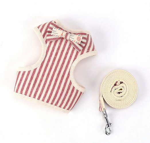 New Pet Chest Strap Leash Small Dog with Bow Korean Style