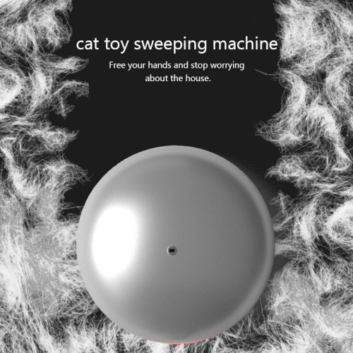 2 In 1 Cats Toys Laser & Robot Cleaner Electric Sweep Kitten Hair